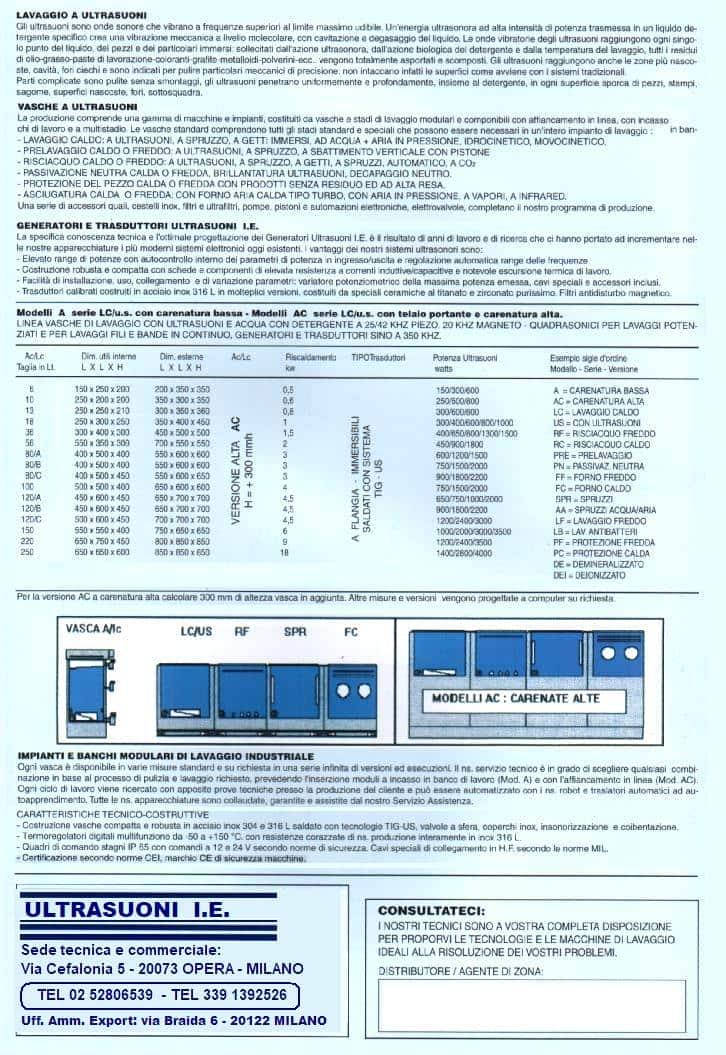 catalogo lavatrici industria AC