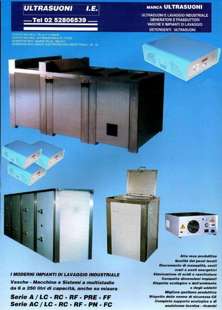 lavatrici ultrasuoni serie AC media industria